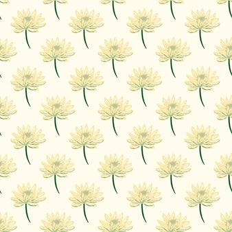 낙서 스타일에서 정원 초원 꽃 데이지 완벽 한 패턴입니다.