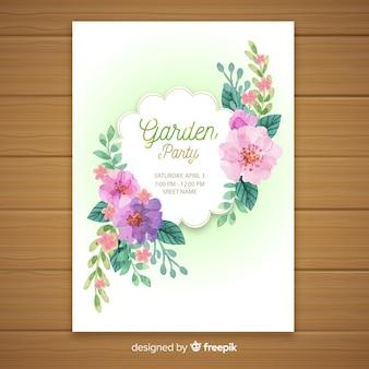 Garden party flyer