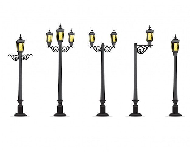 Garden street lamp  illustration