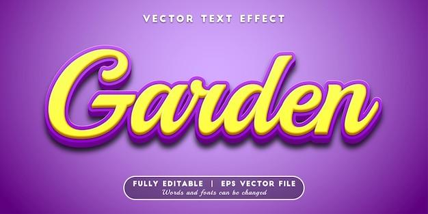Garden text effect, editable text style