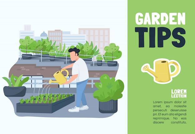 Garden tips  template