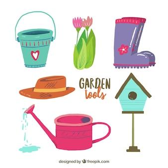 Attrezzi da giardino simpatici disegni