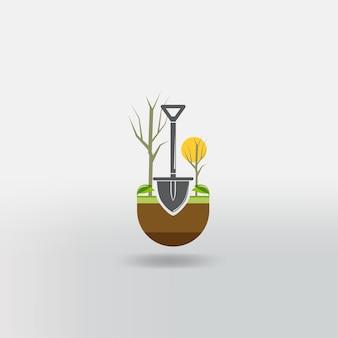 Садовые инструменты. экологическая деятельность. садовые иконки.