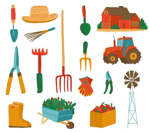 夏のコテージのための園芸工具