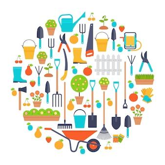Garden tools. horticulture set.