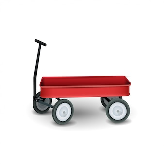 Garden trolley isolated