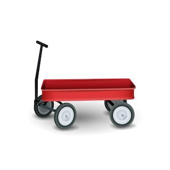 Garden trolley isolated