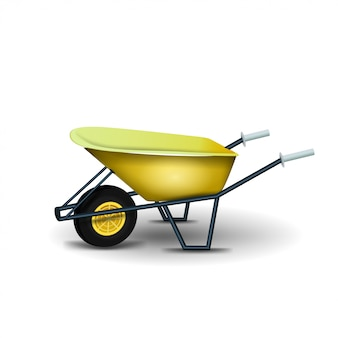 Garden wheelbarrow isolated