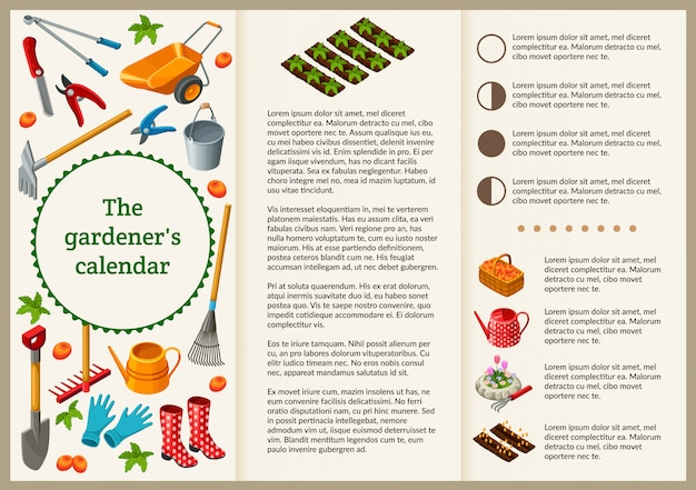 Gardener brochure for presentation.