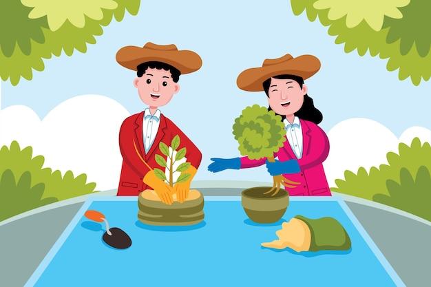 Gardener profession