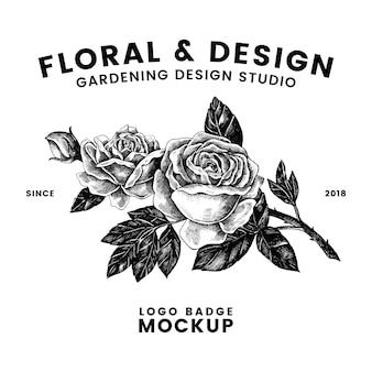 ガーデニングと花のロゴデザインベクトル