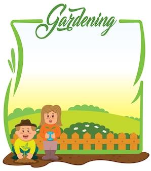 Progettazione sfondo giardinaggio