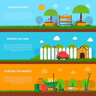 Gardening banner set