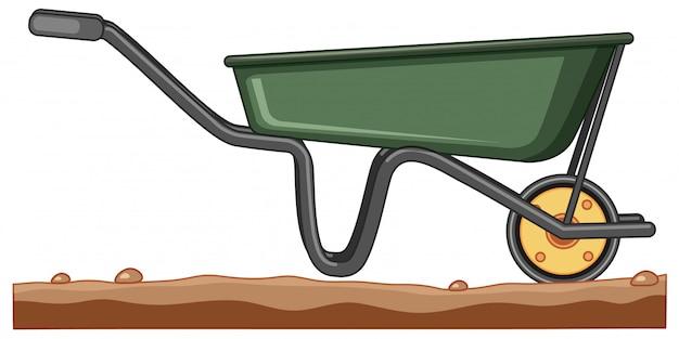 Gardening cart on rough ground