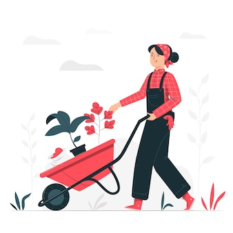 Gardening concept illustration