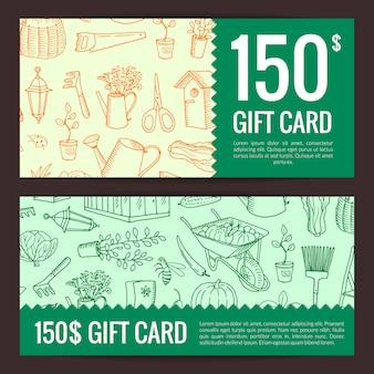 Gardening discount card
