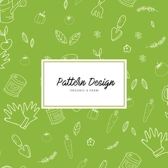 Elementi di giardinaggio sfondo di pattern di elementi