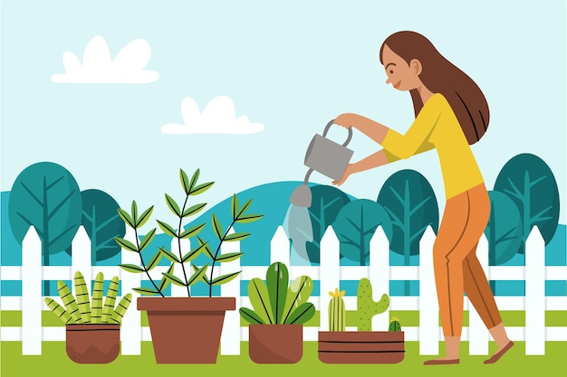 Gardening at home concept