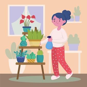 Gardening at home design