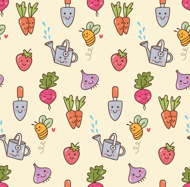 Gardening kawaii background