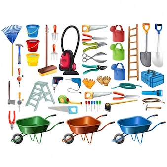 Gardening tools collection