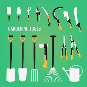 Gardening tools equipment set