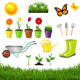 Gardening tools isolated