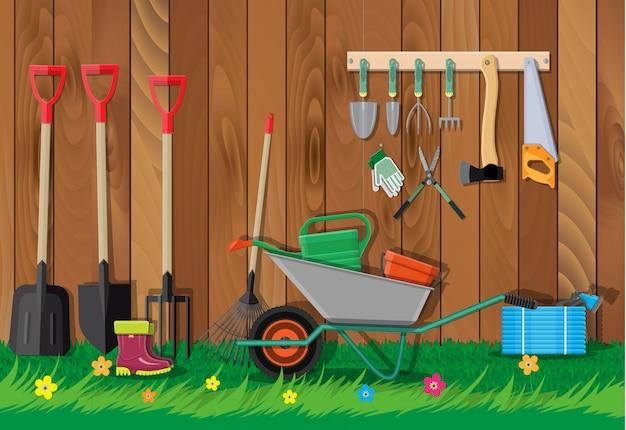 ガーデニングツールセット。庭のための機器