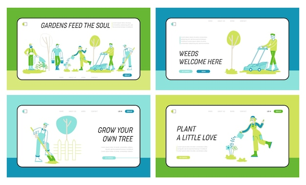 Набор шаблонов целевой страницы садоводства