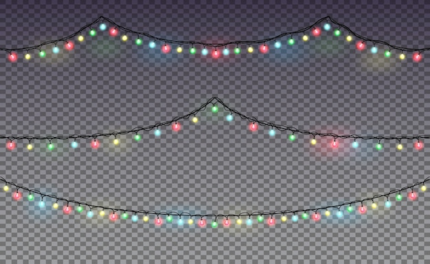 Garland. christmas lights. premium .
