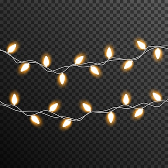 Garland light bulb decoration transparent