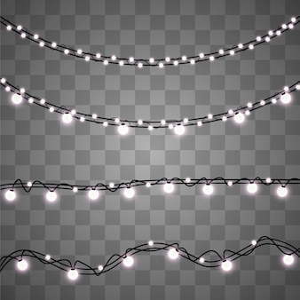 Garland light isolated on background.