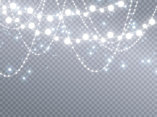 ガーランドライト、特殊光効果、スパークリングマジックダスト粒子。