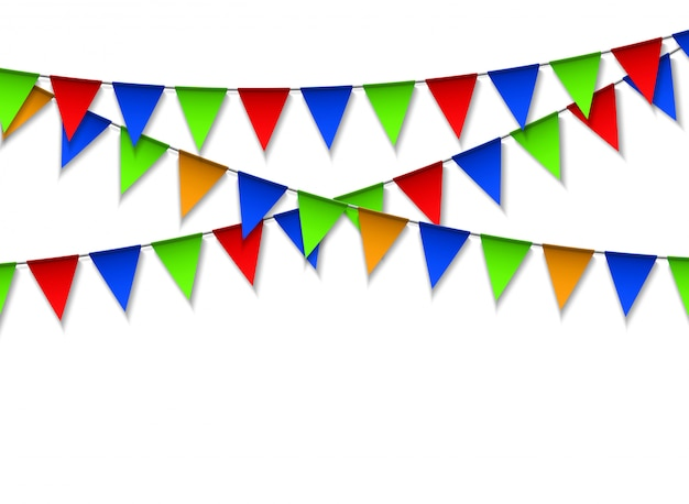 Garland with colorful pennants