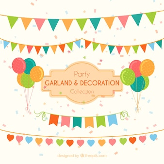 Garlands and balloons to decorate