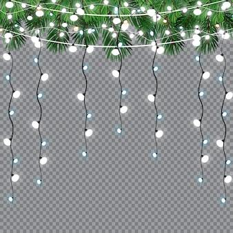 Гирлянды, рождественские украшения, световые эффекты.