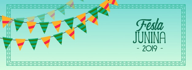 Garlands decoration festa junina 2019 banner
