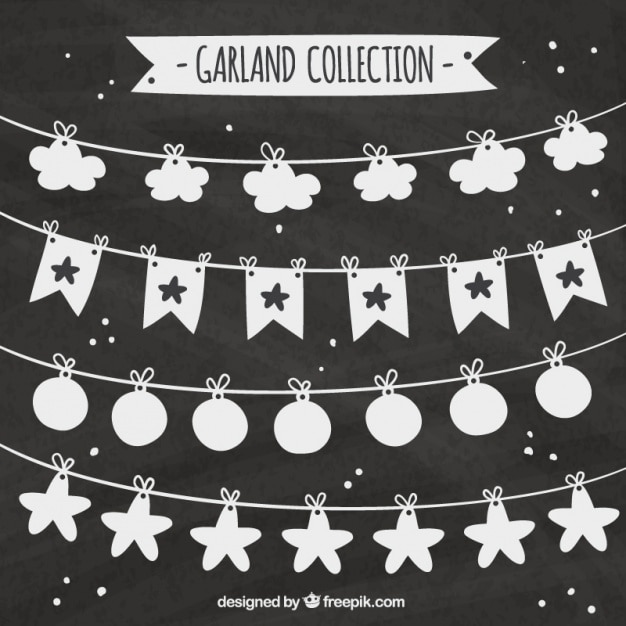 Garlands set in vintage style