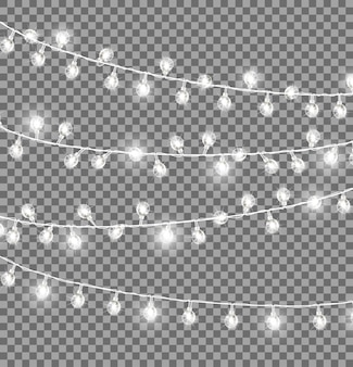 Garlands with round bulbs