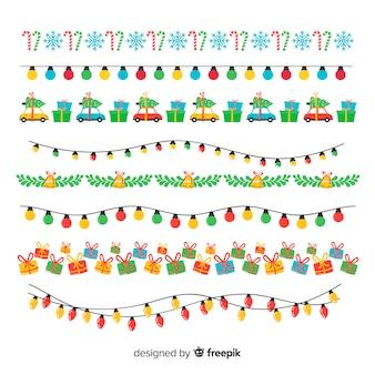 クリスマスの要素garlands