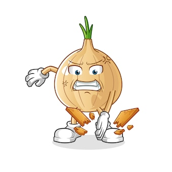 Garlic karate mascot. cartoon vector