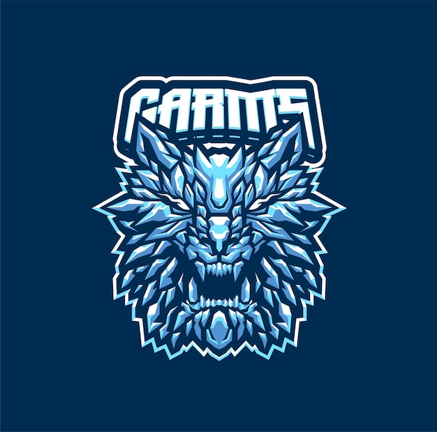 Шаблон логотипа талисмана garm