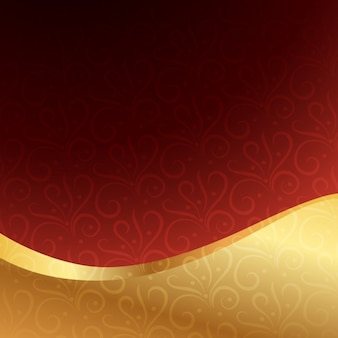 Garnet background with golden wave