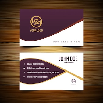 Garnet business card with waves