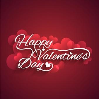 Garnet valentines card with hearts