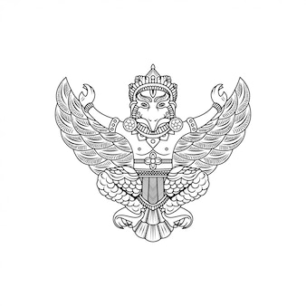 Garuda buddha illustration vector drawing