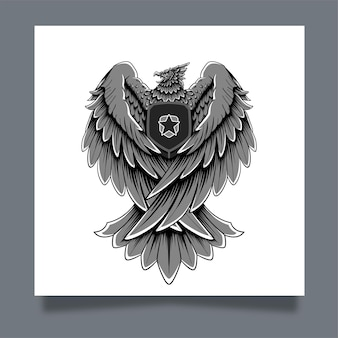 Garuda eagle artwork illustration