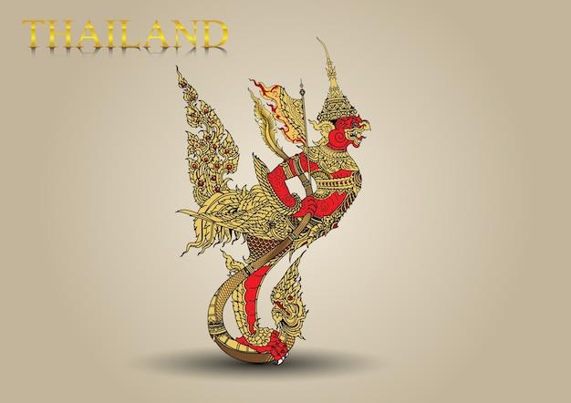Garuda fly big brid in legend of thailand