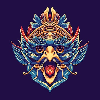 Garuda indonesia culture illustration design