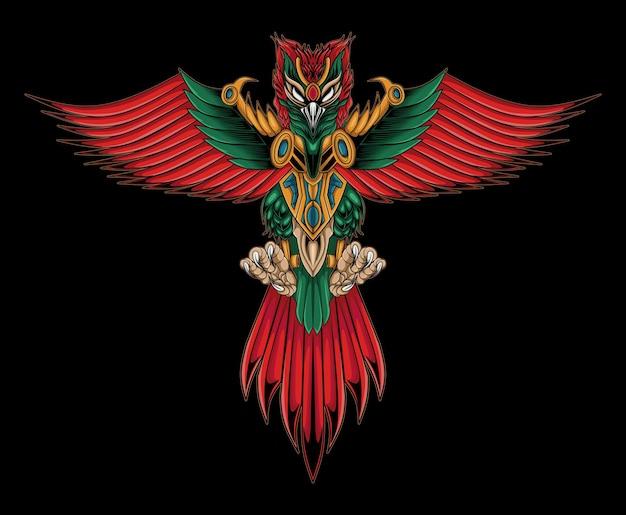 Garuda indonesia culture illustration design